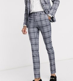 Tall super skinny suit pants in navy and white bold check