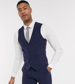Tall super skinny suit suit vest in four way stretch in navy