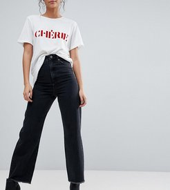 ASOS DESIGN Tall wide leg jeans in ashes black wash