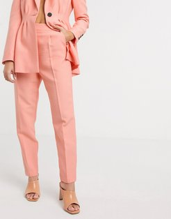 tapered suit pants in peach-Pink