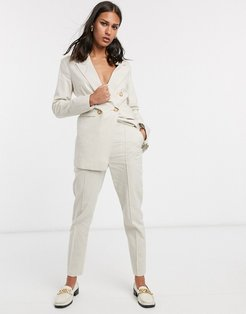 ultimate linen cigarette suit pants-Stone