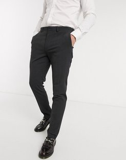 wedding skinny suit pants in charcoal four way stretch-Gray