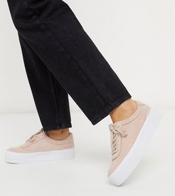 Wide Fit Dynamic suede chunky sneakers in pale pink