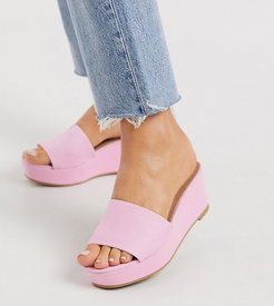 Wide Fit Tazlin demi wedges in pink