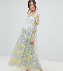 ASOS EDITION Maternity embroidered maxi dress-Multi