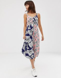 mixed floral cami dress-Multi