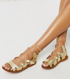 Exclusive Savannah gladiator sandals in gold leather
