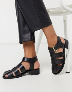 Sammy fisherman sandals in black leather