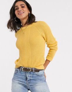 b. Young round neck fitted sweater-Yellow