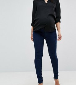 Maternity over the bump jegging with removable bump band-Blue