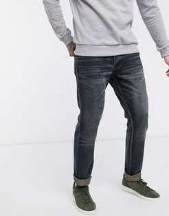 slim fit jeans in washed indigo-Blue