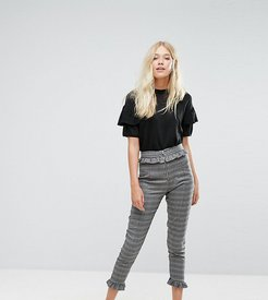 Dog Tooth Check Tailored Pant-Multi