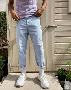 loose fit jeans in blue