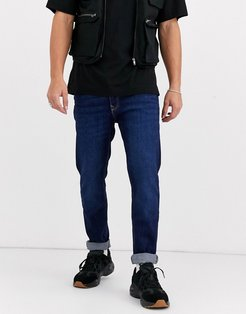 slim fit jeans in dark blue