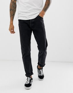 slim fit jeans in washed black