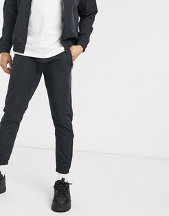 two-piece tracksuit pants in black