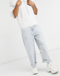 wide leg 90s fit jeans in blue