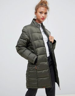 Dodi tube quilted longline coat-Green