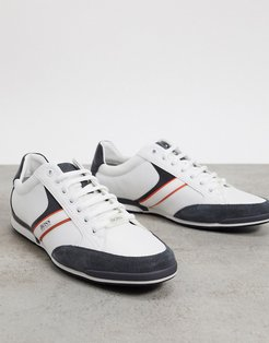 Saturn Lowp sneakers with suede panels in white