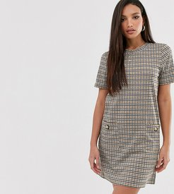 baylea shift dress in check-Black