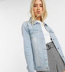 bloom denim jacket in blue