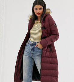 wizard long padded coat-Red