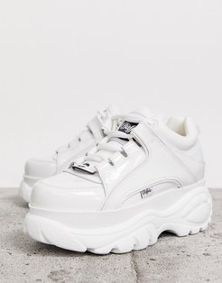 London classic lowtop sneakers in white patent