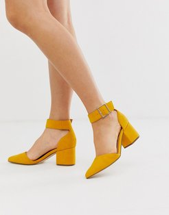 by ALDO Agraleria ankle strap heeled pumps in mustard-Yellow