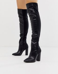by ALDO Fontana knee high boots in black