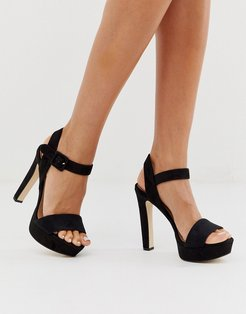 by ALDO Wanna platform sandals in black