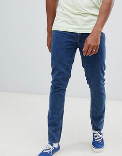 Slim Tapered Jeans In Blue