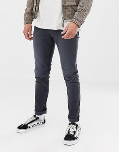 Slim Tapered Jeans In Gray-Blue