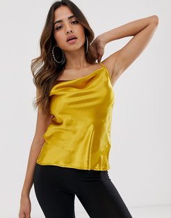 Club L cowl neck top-Gold