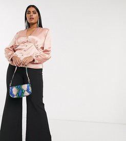 tailored flare pants in black