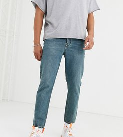 x003 tapered jeans in blue-Green