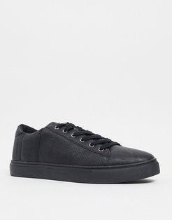Cotton On dickson lace up sneakers in black