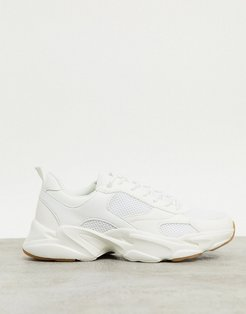 Cotton On joel chunky sole sneakers in white