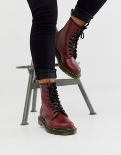 1460 8 eye leather boots in cherry-Red