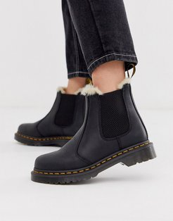 2976 Leonore lined leather ankle boots in black