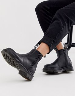 2976 zip leather ankle boots in black