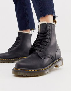 Serena lined leather ankle boots in black
