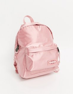 satin effect backpack in serene pink