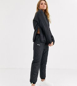 tracksuit bottoms in quilting two-piece-Black