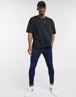 oversized boxy fit t-shirt in black