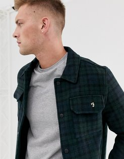 Laurie check melton wool jacket in navy