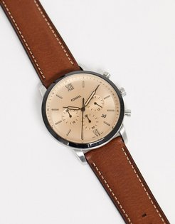 FS5627 Neutra Chrono leather watch in brown