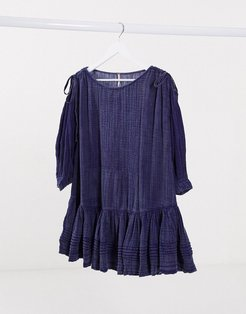 smock dress in blue