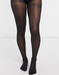 dogtooth 30 denier tights in black