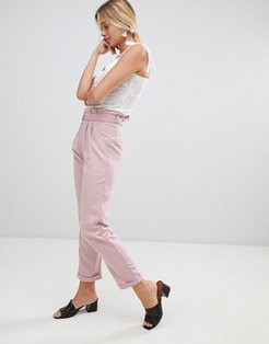 pants with d-ring belt-Pink