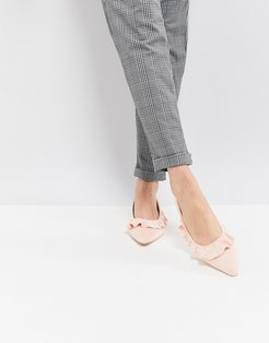 Pointed Flat Shoes in Pink